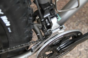 Moots designed the FrosTi around 170mm rear hub spacing