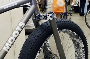 Moots' earlier snow bikes used a custom titanium fork built around an old Marzocchi Monster T crown