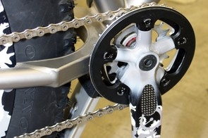Earlier Moots snow bikes used this complex custom box-section chainstay yoke