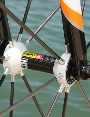 Our front hub emitted a faint rubbing sound due to a slightly warped carbon fiber shield but otherwise ran smoothly