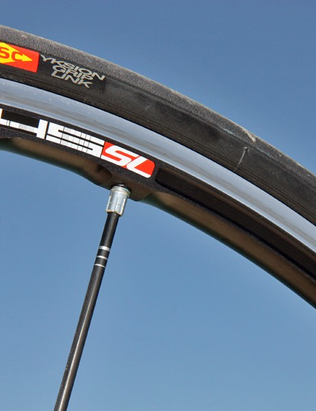 Mavic's latest R-Sys SL rims are milled on three sides to save weight