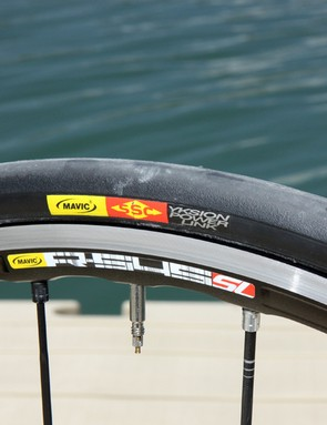 Mavic's Yksion Power Link clinchers ride well and provide ample grip in corners