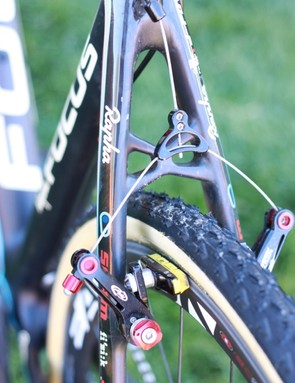 Avid's Ultimate out back, and a look at the interesting 'X' shaped seatstay brace
