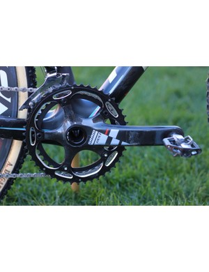 SRAM's BB30 Red crank offers considerably more ankle/heel clearance than the standard version
