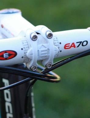 Good old alloy bars and stem: Easton's EA70 bar and EA90 stem