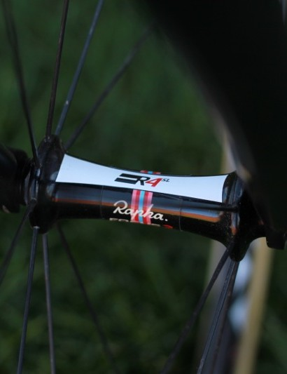 Rapha-Focus uses mostly Easton's EC90SL wheelset, which are built with the R4SL hubs