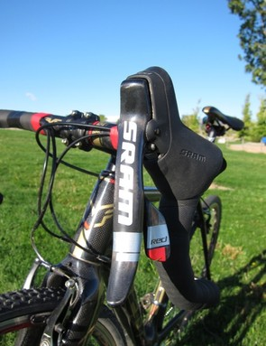 SRAM Red lever were a nice touch, however, we would have traded to Force for a nicer crank