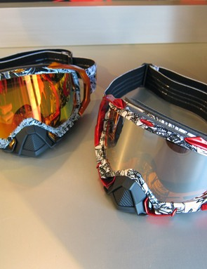 New for 2012 are two Troy Lee Designs edition Mayhem goggles from Oakley