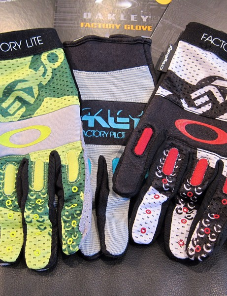 The Oakley Factory Glove (center) is now joined by a new Factory Lite model with a more breathable mesh back