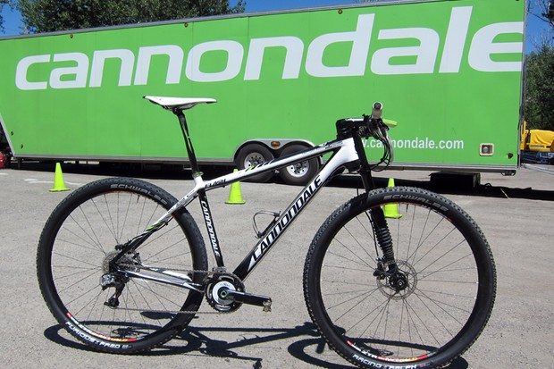 Jeremiah Bishop (Cannondale) raced this ultralight Cannondale Flash 29er hardtail at the US cross-country nationals. How light? Try 8.23kg (18.14lb)