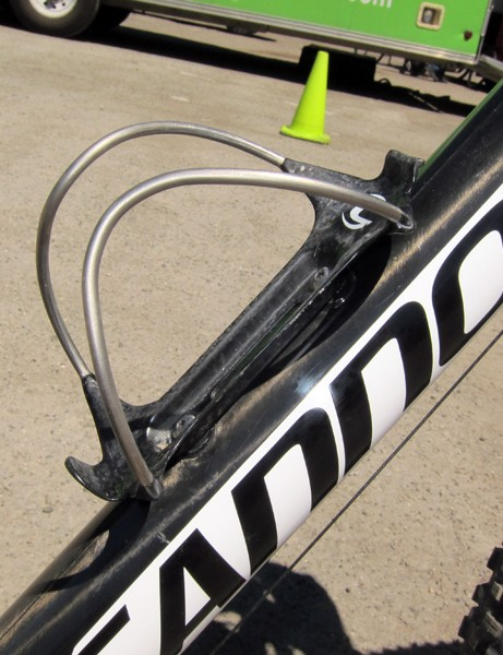 Cannondale's Immex cage blends a carbon fiber base with titanium wings