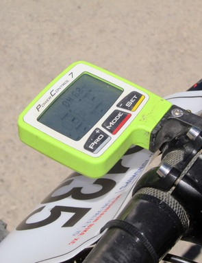 Jeremiah Bishop (Cannondale) uses SRM's Power Control 7 computer to go along with his SRM power meter
