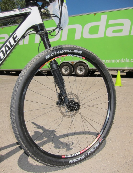 The NoTubes 29er Race Gold wheelset is one of the lightest options available for the bigger wheel size