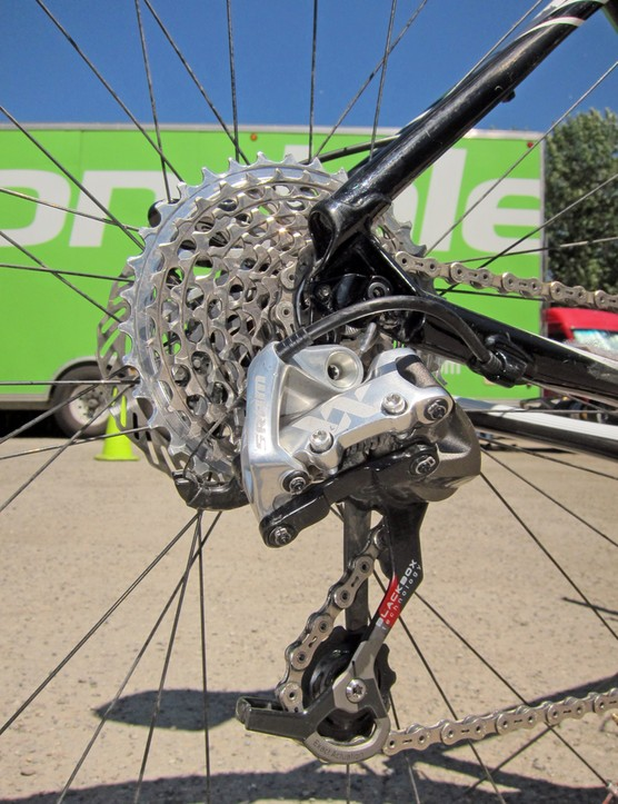 SRAM's XX group is a big reason why Jeremiah Bishop's (Cannondale) Cannondale Flash 29er is so incredibly light