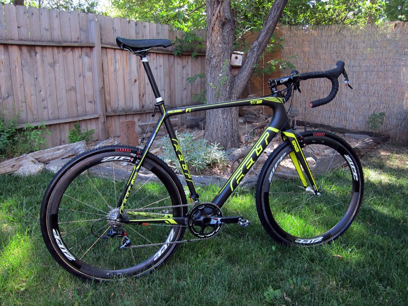 Ryan Trebon's (LTS Felt) new Felt F1X may be big but it's certainly not heavy at just 7.54kg (16.62lb) complete