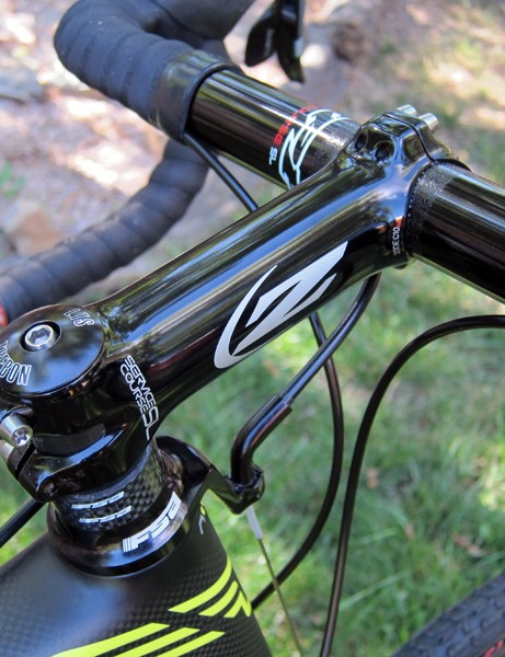 Zipp's forged aluminum Service Course SL stem is reasonably light but suitably tough for 'cross racing