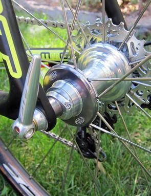 Zipp's latest rear hub design is easily adjustable for bearing preload