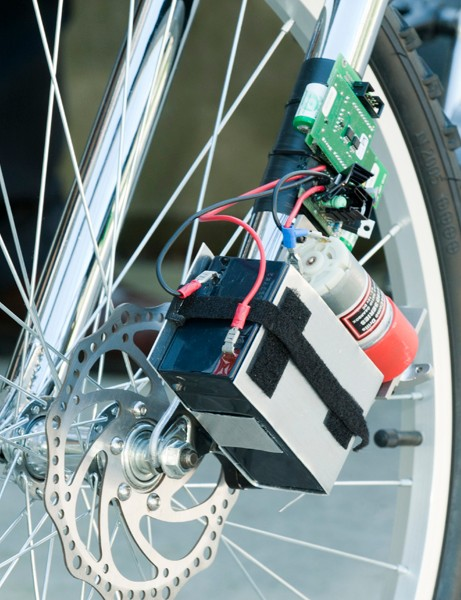 The wireless bicycle brake created at Saarland University