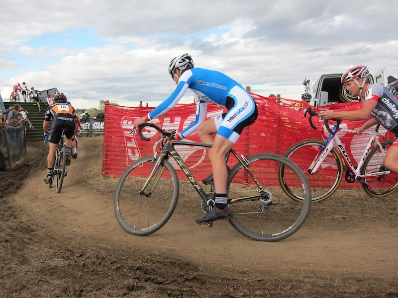 Putting the Felt F3X through the paces at the 2011 US Gran Prix of Cyclo-cross in Fort Collins, CO