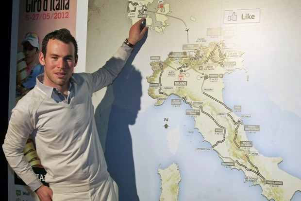 Cycling stars including world champion Mark Cavendish turned out for the 2012 Giro D'Italia presentation in Milan, Italy