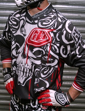 Turn the competition to stone with the TLD Medusa downhill jersey