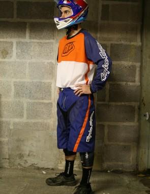 Troy Lee's 2012 Sprint kit, 5450 knee/shin pads and D3 Stinger helmet
