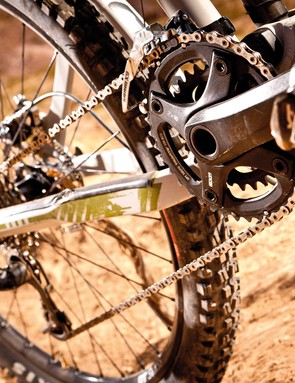 Our test bike ran a SRAM transmission but you could just as easily use Shimano kit