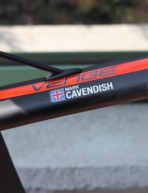 Mark Cavendish's Specialized McLaren Venge bike