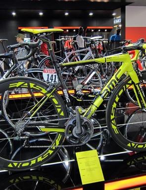 Cadel Evans' commemorative BMC at the Eurobike tradeshow