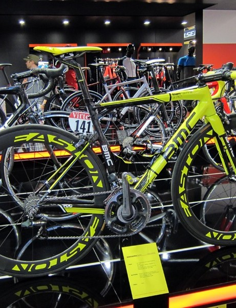 Cadel Evans' commemorative BMC at the Eurobike tradeshow