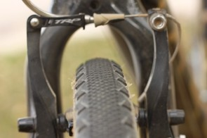 The short side knobs don't detract from the tire's performance in sand