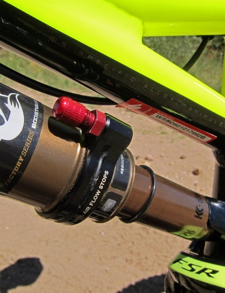 The AUTOSAG feature on the Fox Racing Shox RP23 Adaptive Logic rear shock is simply brilliant.  We never even bothered to check what our final pressure was but ended up with a perfect sag level automatically regardless