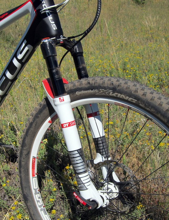 The DT Swiss XRM 100 fork is fantastically light and extremely rigid. The suspension quality could stand some improvement, though