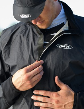 Curve builds its Proline GT Professional Rain Jacket with a full-length Velcro closure instead of a conventional zipper