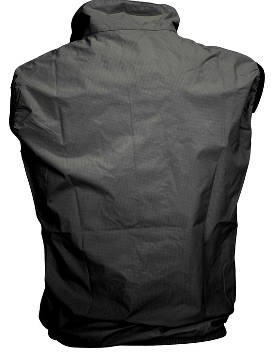 The back of Curve's upcoming Proline GT Professional Rain Vest is unabashedly spartan with no pockets or graphics