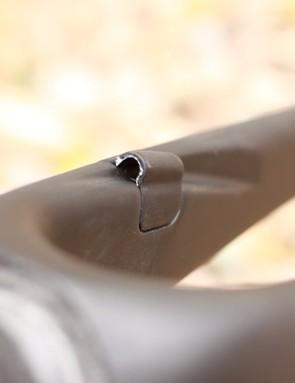 The molded leg guides the brake housing
