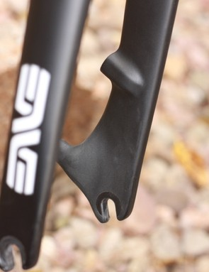 The ENVE dropouts are molded from carbon