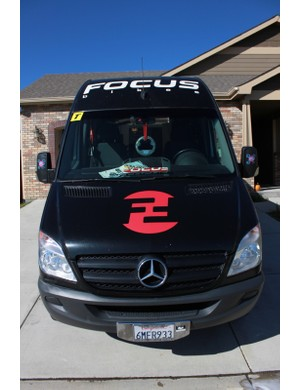 Rapha-Focus's Mercedes Sprinter has been across the country and back already this season