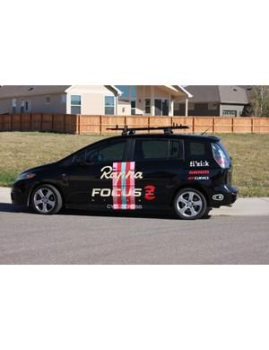 Rapha-Focus's Mazda 5 team car
