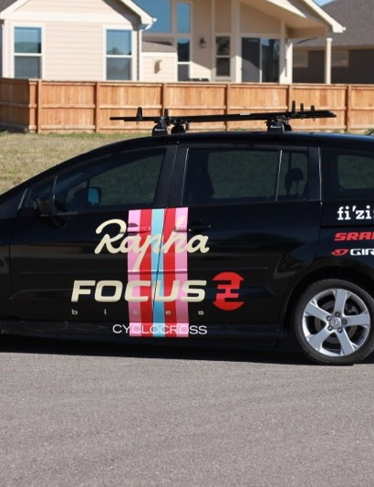 Rapha-Focus's Mazda 5 team car