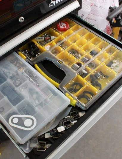 CrankBrothers have their own drawer, as the entire team ride their Candy 3 and 11 pedals