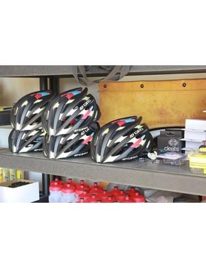Extra custom Rapha-Focus painted helmets