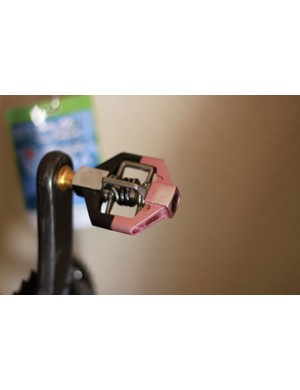 CrankBrothers made the team six pairs of custom pink and black Candy 11 pedals
