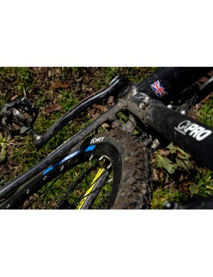The CX Pro frame will accept up to 40c tyres
