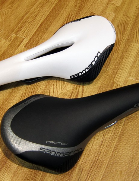 Selle San Marco's new Concor saddles are available in cutout (top) and reinforced versions designed for mountain bike use