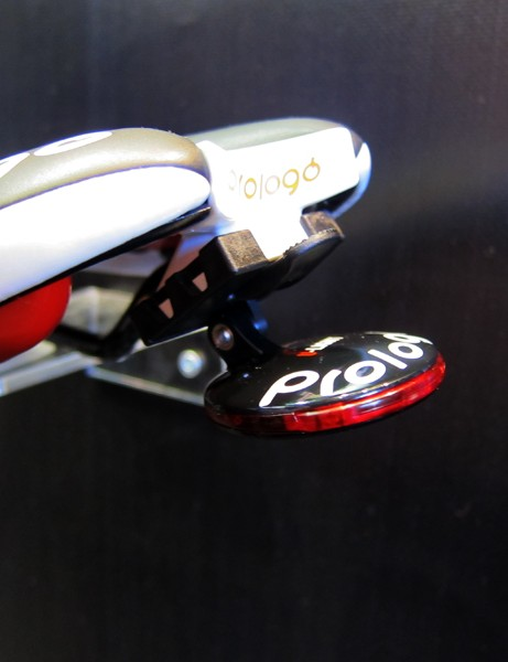 The Prologo U-Light clips easily on to the back of select Prologo saddles for nighttime visibility, though it's not particularly bright