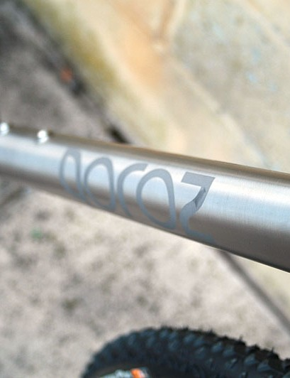 Qoroz say the down tube is shaped to maximise lateral stiffness around bottom bracket area