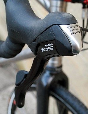 The drivetrain is made up of a mixture of Shimano parts. Shifters come courtesy of the mid-range 105 group