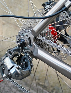Shimano Ultegra takes care of business at the rear, with the rear mech and 10-speed 12-27T cassette