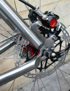 Hope V-Twin X2s take care of braking